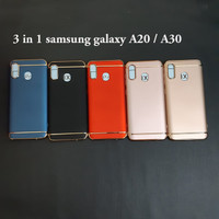 Samsung A20 / A30 3 in 1 chrome case