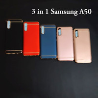 Samsung A50 3 in 1 chrome case