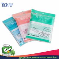AINA Instant Vacuum Travel Pastic Bag / vacum bag Plastic size 35x50cm