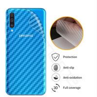 Samsung A10 A20 A30 A50 A70 A80 Skin Carbon Back Garskin Anti Gores