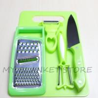 Set Talenan Dapur Lengkap Dengan Pisau Dan Peeler 5 In 1 Uk 20cm x 3cm
