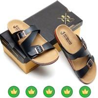 sandal sendal pria kulit gunung eiger jepit adidas carvil slop JY-a122
