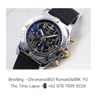 Breitling - Chronomat B01 Roman Dial Steel & 18K Yellow Gold