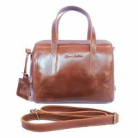 Handbag Milea Havana- Kenes Leather Bag