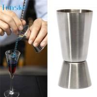 A119827 TENSKE Gelas Ukur Bartender Cocktail Measuring Jigger Double S