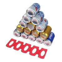A119819 DouRyoku Rak Holder Kaleng Minuman Foldable Beer Can Rack - LY