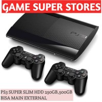 ps3 Super slim void sony hdd 500gb + ful game + 2 stik wirrles