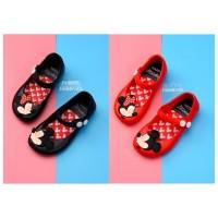 SPT08 - Sepatu jelly minnie kiss walker shoes anak balita kids toddler