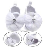 PW40 - prewalker putih pita renda bayi baby cewek girl shoes sepatu
