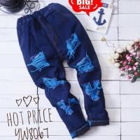 BJ08 - celana jeans panjang sobek anak kids pants toddler