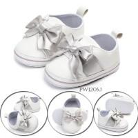 PW43 - prewalker putih pita silver sepatu anak bayi baby shoes