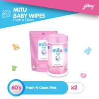 Mitu Tisu Basah - Fresh N Clean Pink