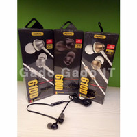 Headset Earphone REMAX RM-610D Headphone Super Bass In Ear With Mic