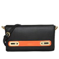 Gobelini W. Salma Clutch Patent Bag Black Orange