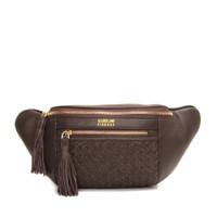 Gobelini Filo Waist Bag Breaded Bag Dark Brown
