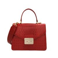 Gobelini Lauria Top Handle Bag Croco Red