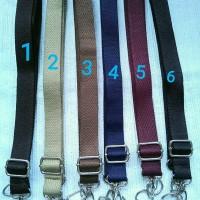 Handle tas/tali tas polos, selempang, lebar kecil
