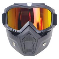 Kacamata Goggles Mask Motor Retro Air Softgun Anti Glare Windproof
