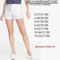 celana branded-OLD NAVY HIGHRISE WHITE SHORT PANTS