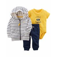 CARTER'S Set Jacket Bodysuit & Pants - Jumper Set 3 in 1 (STRIPE)