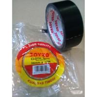 "Lakban Perekat Kain Hitam Cloth Tape 1.5"" 36mm x 12m - Joyko"