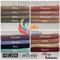 Hijab Segiempat CORNSKIN by HELWA Ansania High Quality