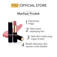 TERMURAH Y.O.U Lipstick Matte 01 Kelly BPOM Original - YOU Matte Lipst