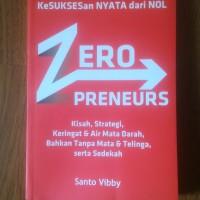 Buku Zeropreneurs - Santo Vibby