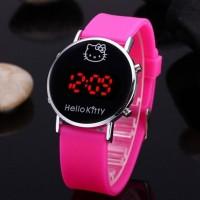 Hot Sale Jam Tangan Digital Anak Kids Wanita Remaja Hello Kitty Led