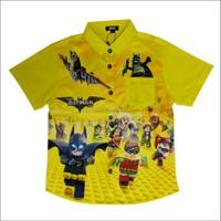 Kemeja Anak Full Print Karakter BATMAN LEGO