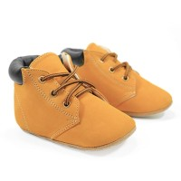 Hello Mici Sepatu Bayi Prewalker Shoes Worker Boots Tan