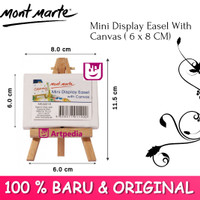 Mont Marte Mini Display Easel with Canvas (6 x 8 cm) / Kanvas Lukis