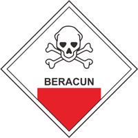 Sticker Safety Sign Rambu Tanda Peringatan Limbah B3 size 10 x 10 cm