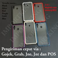 Samsung m20 Premium 2 in 1 magnetic phone case -Transparant