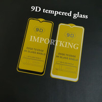 Samsung M20 9D Tempered glass full cover full glue full lem