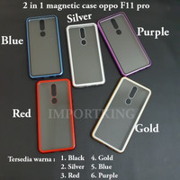 Oppo F11 pro Premium 2 in 1 magnetic phone case -Transparant