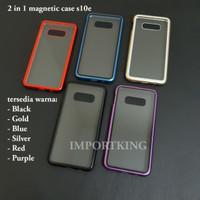 Samsung s10e Premium 2 in 1 magnetic phone case -Transparant