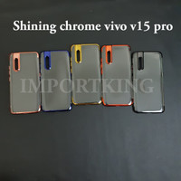 Vivo v15 pro SHINING CHROME TPU CASE CLEAR Silicone Case