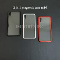 Samsung m10 Premium 2 in 1 magnetic phone case -Transparant