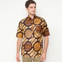 Kemeja Batik Sogan Parang Kawung