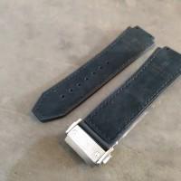 19/25mm Hub lot Rubber Strap Leather Strap Tali Jam Hublo t