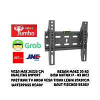 Bracket TV Jumbo 17-43 inci / Braket TV LED / Breket TV LCD Waterpass