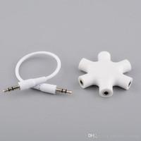 Splitter Audio 6 Port Female Adapter 1 Input 5 Output 5 Input 1 Output
