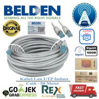 Belden Kabel Lan 50Meter Cat6 50M UTP 1GBps ORI USA Grade Premium