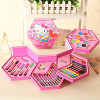 LIKE SF-006 CRAYON 46 SET/PENSILWARNA/Pensil Cat Warna Alat Seni Lukis - FROZEN