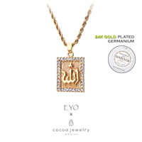 Korea Cocoa Jewelry Square Medley Point - Kalung Gold