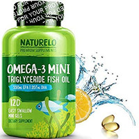 NATURELO Omega-3 Fish Oil Supplement - Mini GELS - 830mg Triglyceride