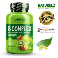 NATURELO B Complex - Whole Food - with Vitamin - 120 Capsules