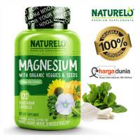 NATURELO Magnesium Glycinate Supplement - 200 mg Natural Glycinate