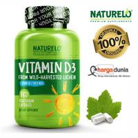 NATURELO Vitamin D - 2500 IU - Plant Based - from Lichen
